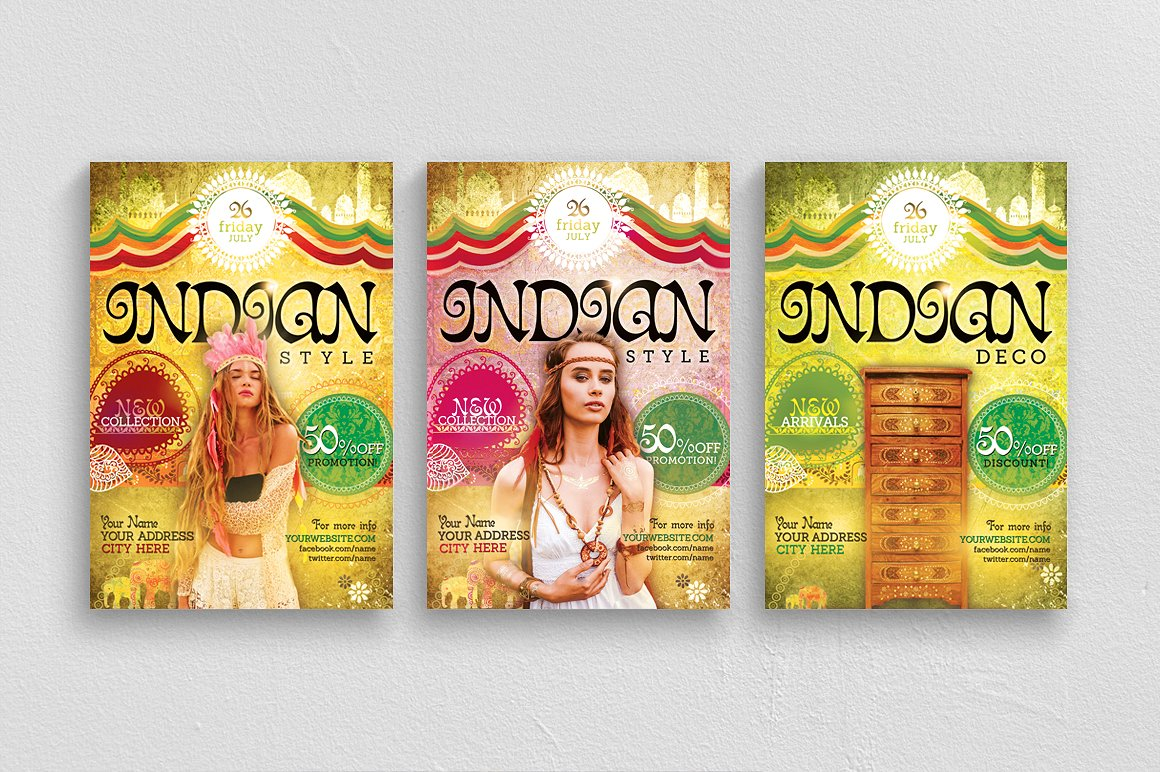 Indian Style Flyer Template example image 1