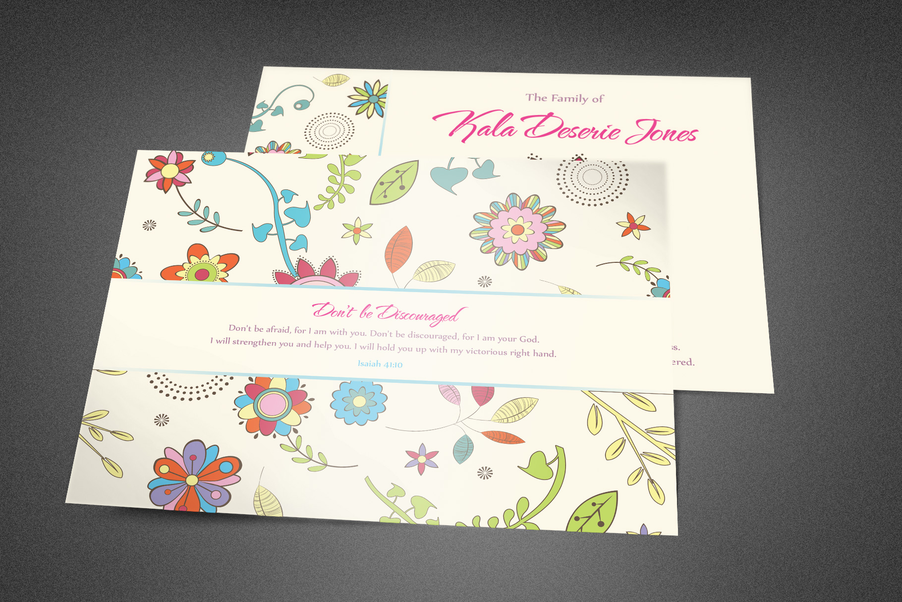 Floral Dreams Funeral Thank You Card example image 2