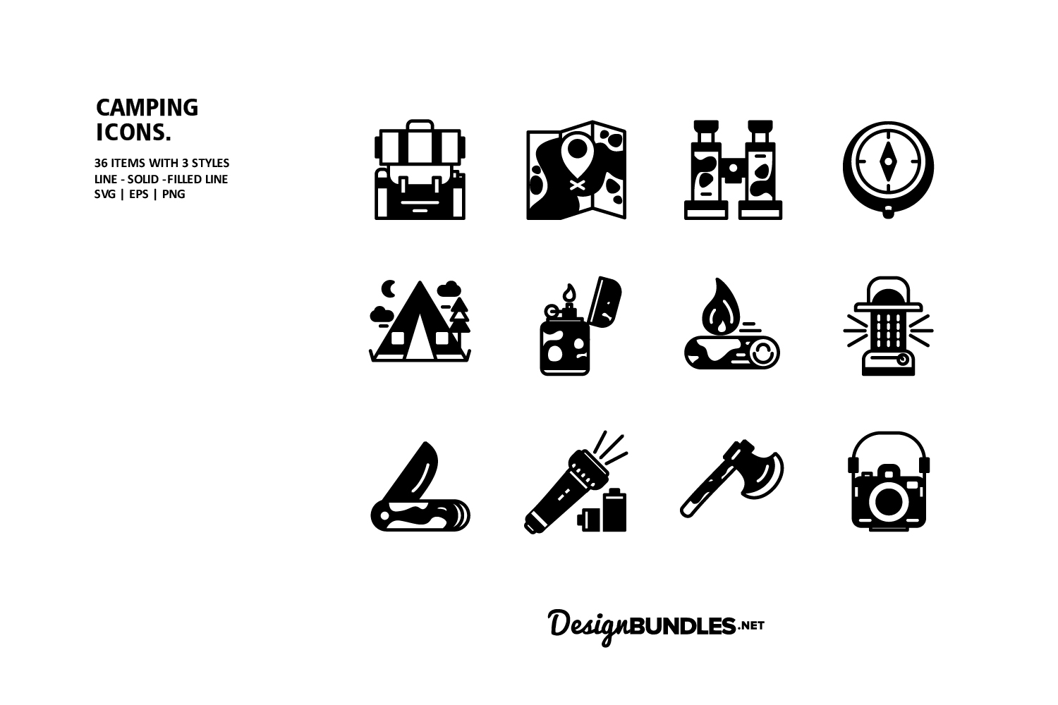 Camping Icons example image 2