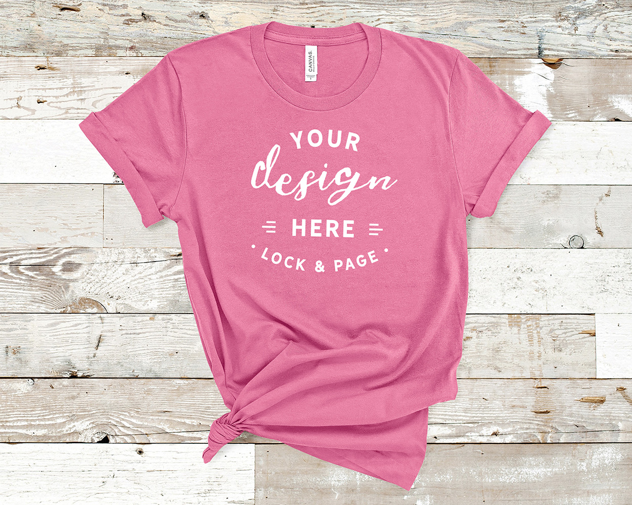 Bella Canvas 3001 Mockup T-Shirt Bundle All Colors On Wood example image 9