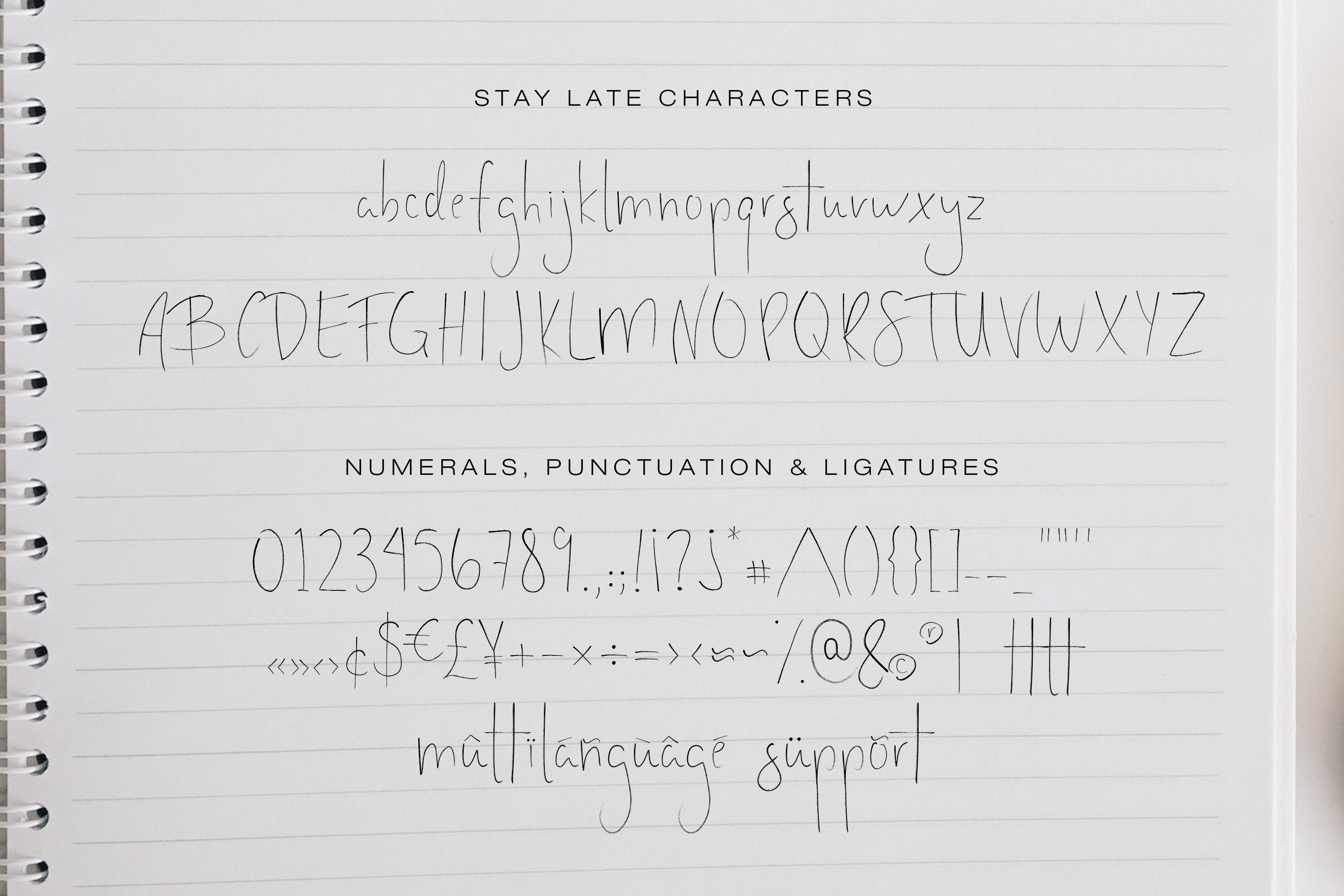 Stay Late - A Handwritten Font example image 6