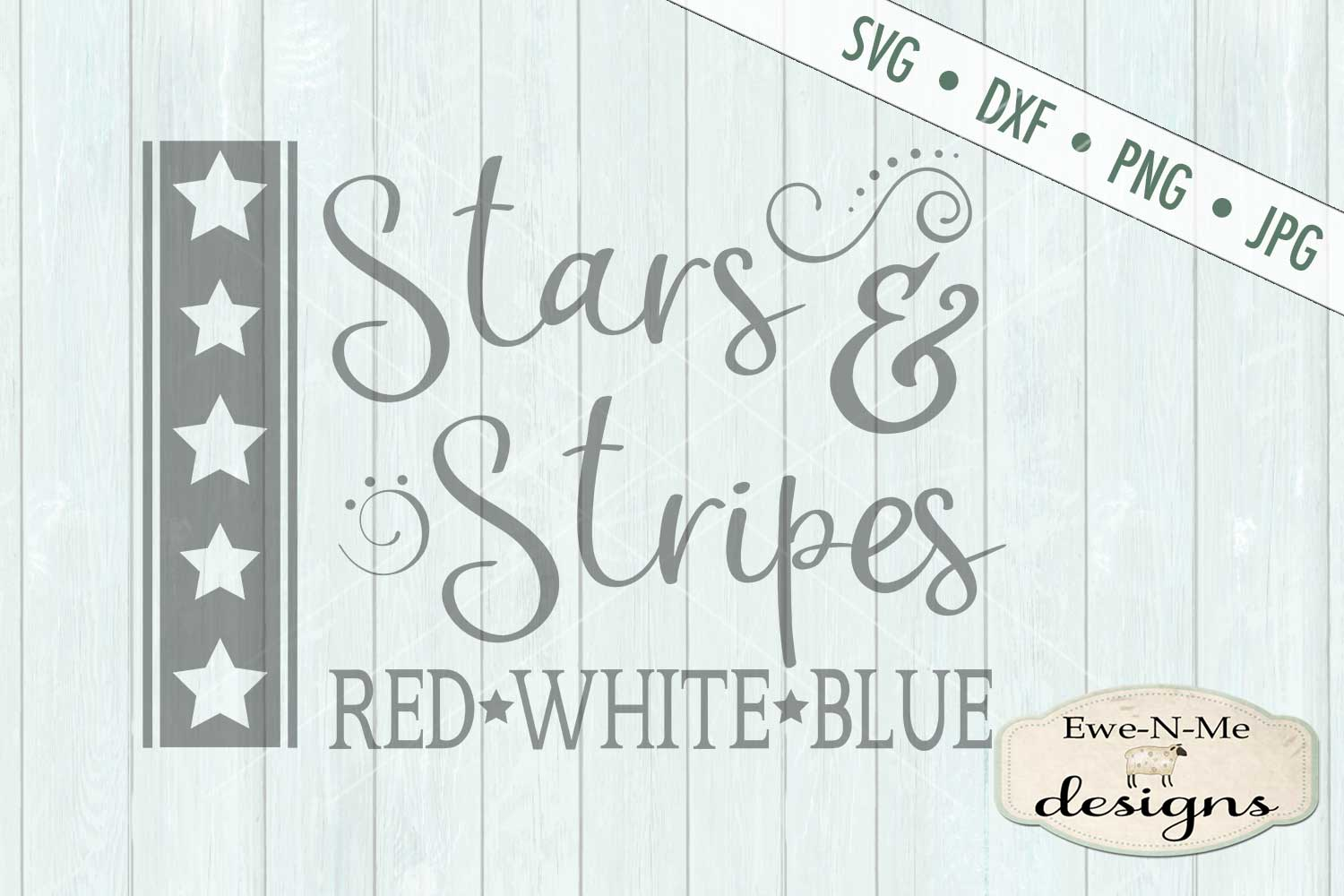 Stars and Stripes Red White Blue SVG DXF Files example image 2