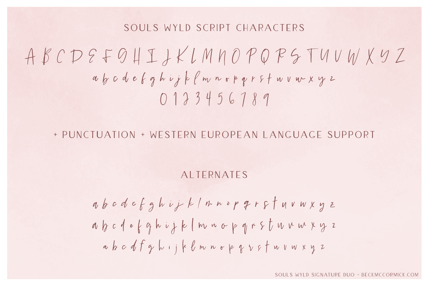 Souls Wyld Signature Script and Sans Font Trio example image 12