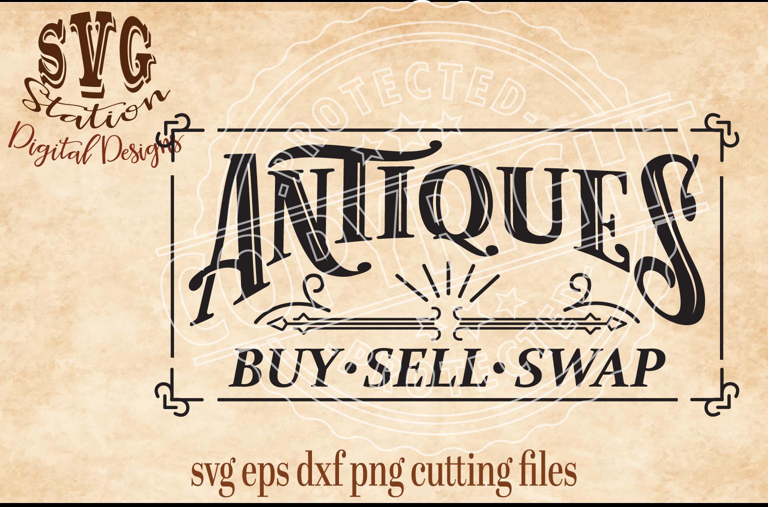 Vintage Antiques Cut File example image 1