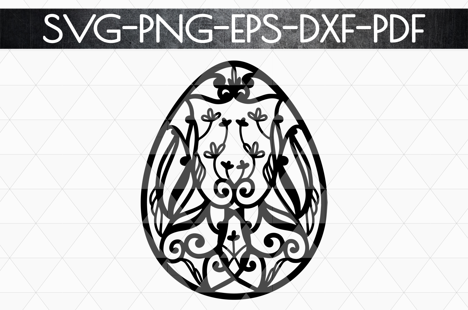 Dragon Egg Papercut Template, Easter Egg Hunter, PDF SVG DXF example image 4