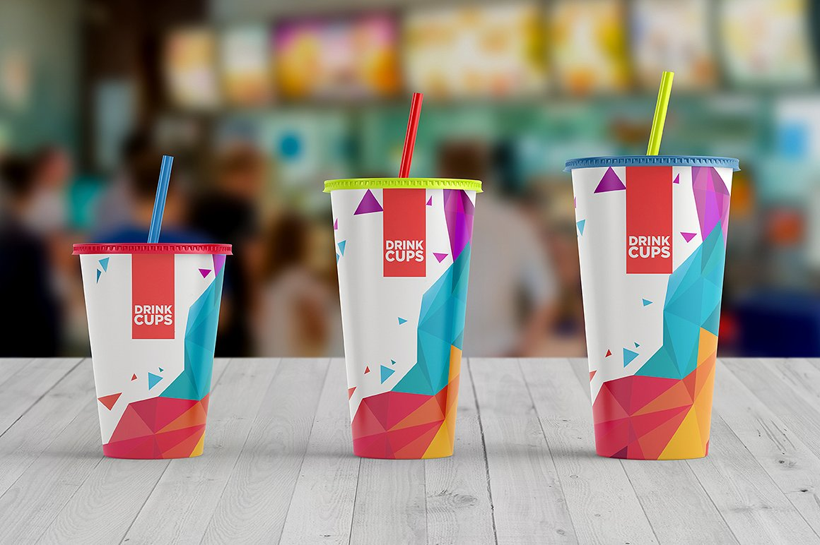 Drink Cups Mock-Up example image 12