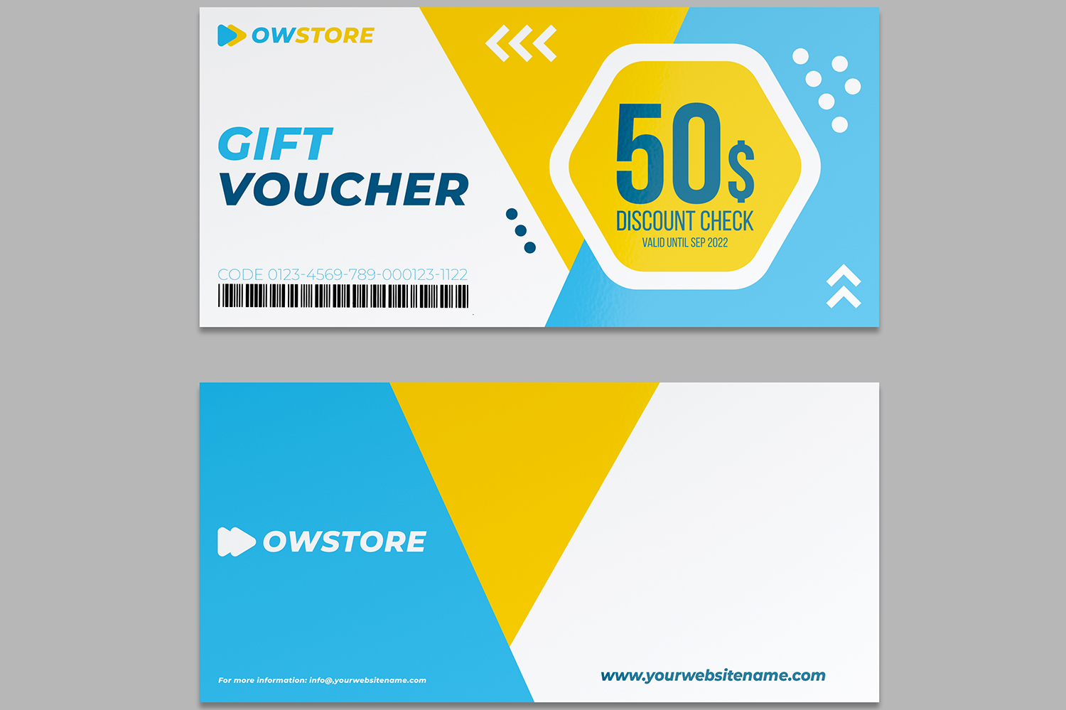 Gift Voucher Card Template Vol.2 example image 2