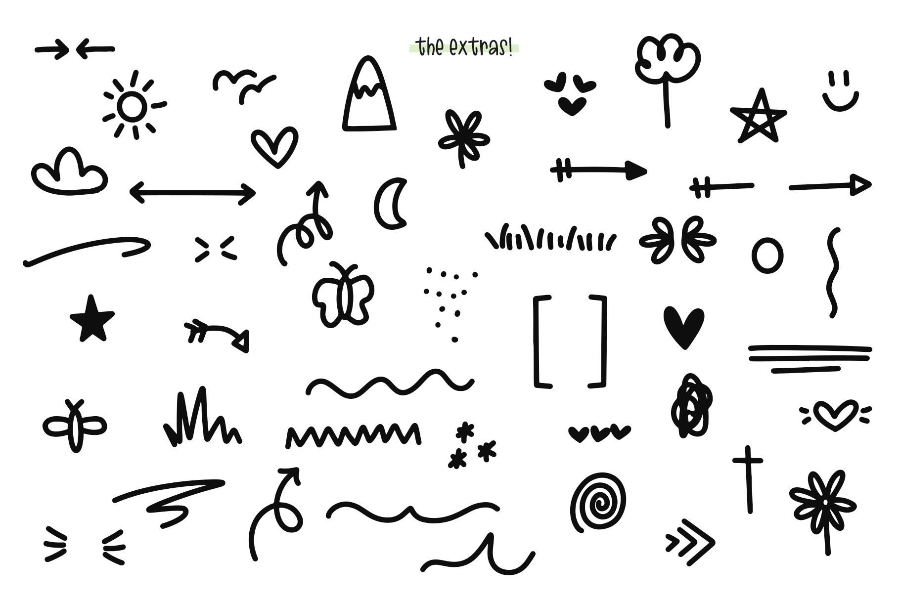 Sugar and Lime - A Fun Font with Doodles! example image 16