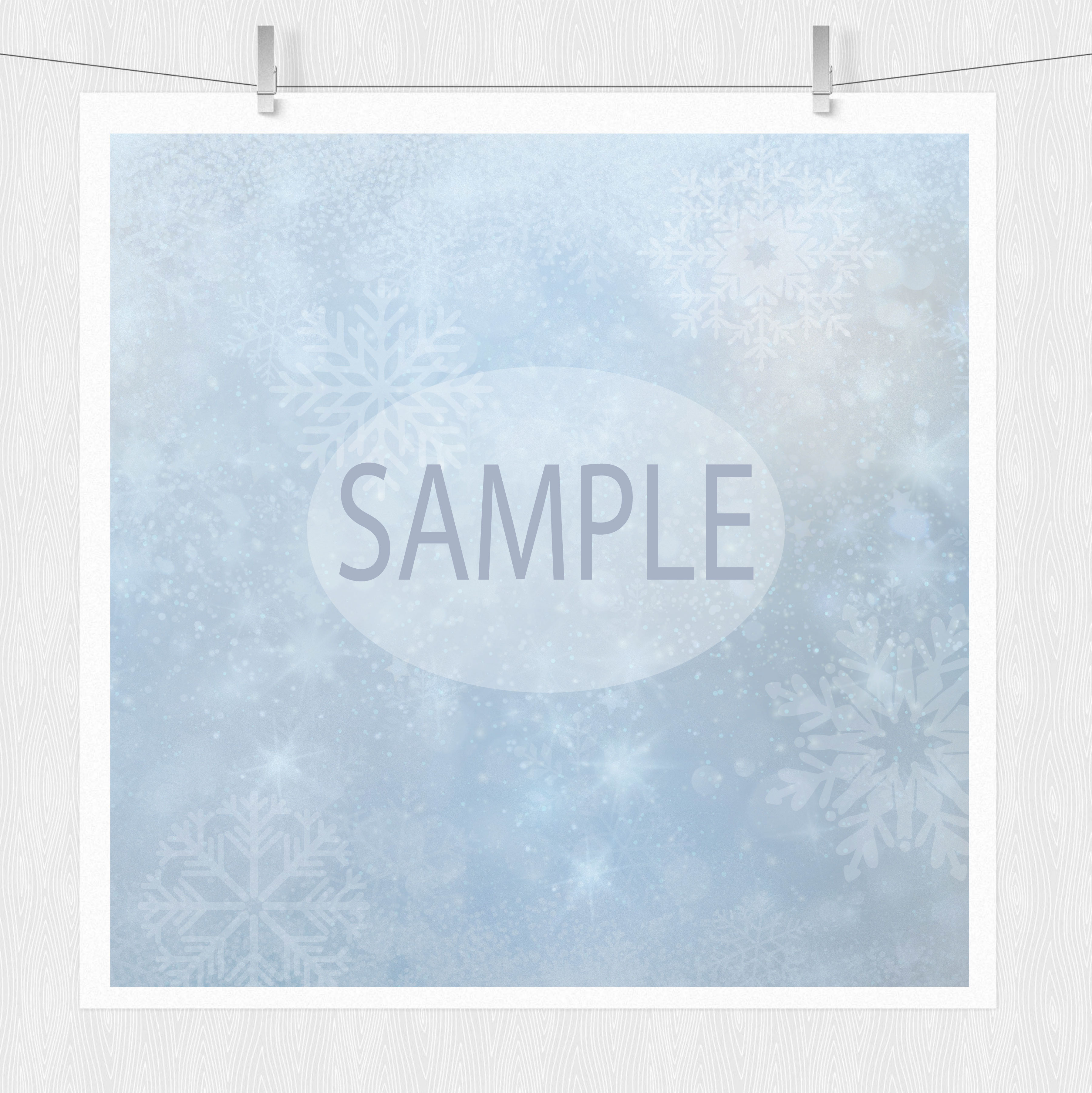 Snowflake Clipart & Winter Digital Paper example image 3