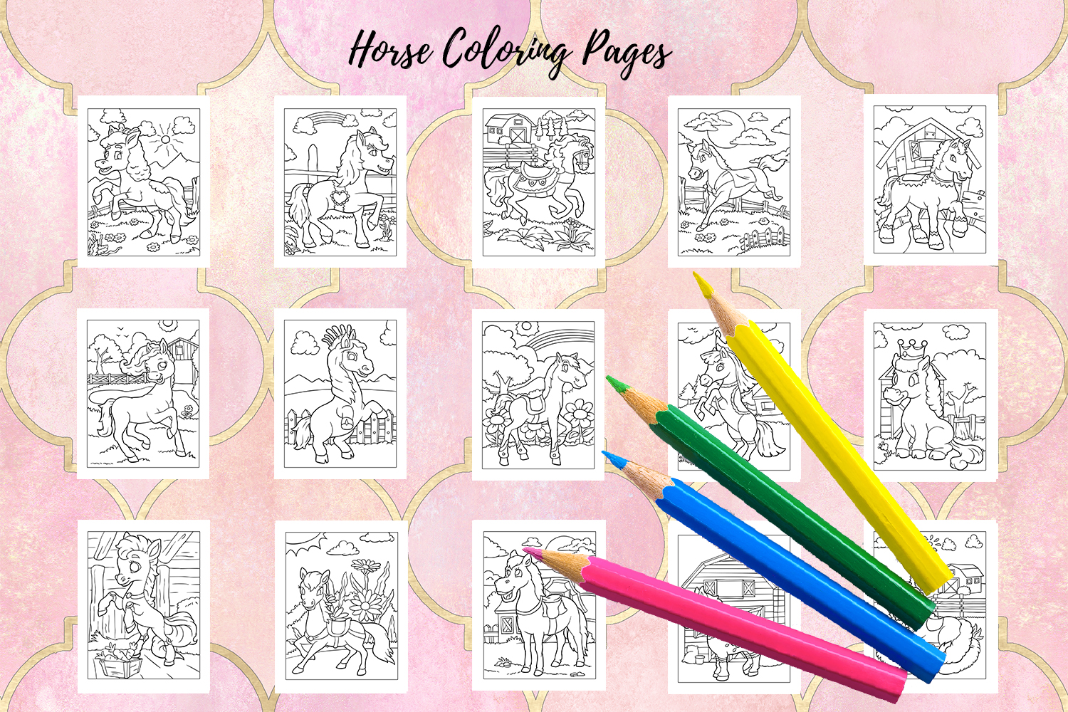Coloring Pages For Kids - 15 Horse Coloring Pages example image 2