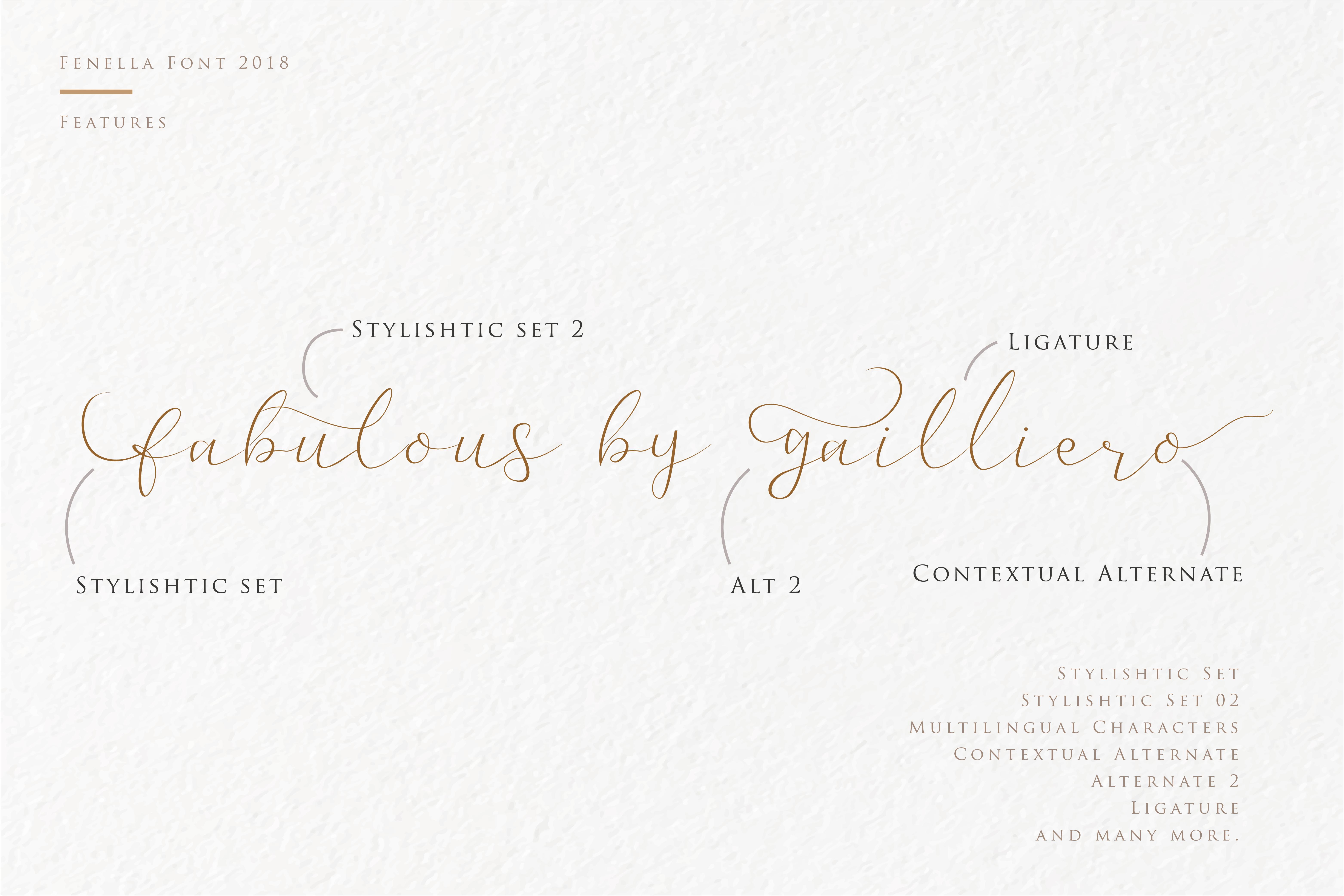 Fenella - Luxury Romantic Font example image 6