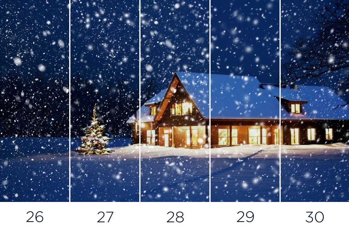 30 Real Snow Overlays example image 9