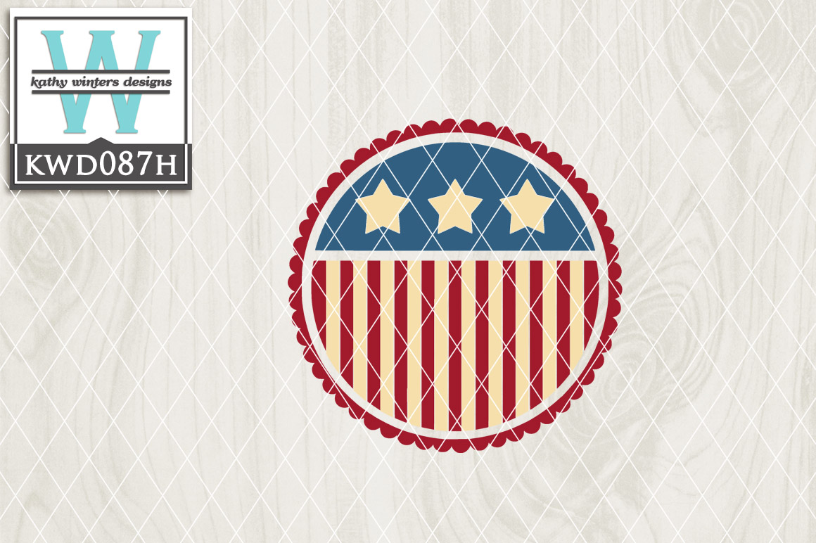 Patriotic Cutting File KWD087H example image 1