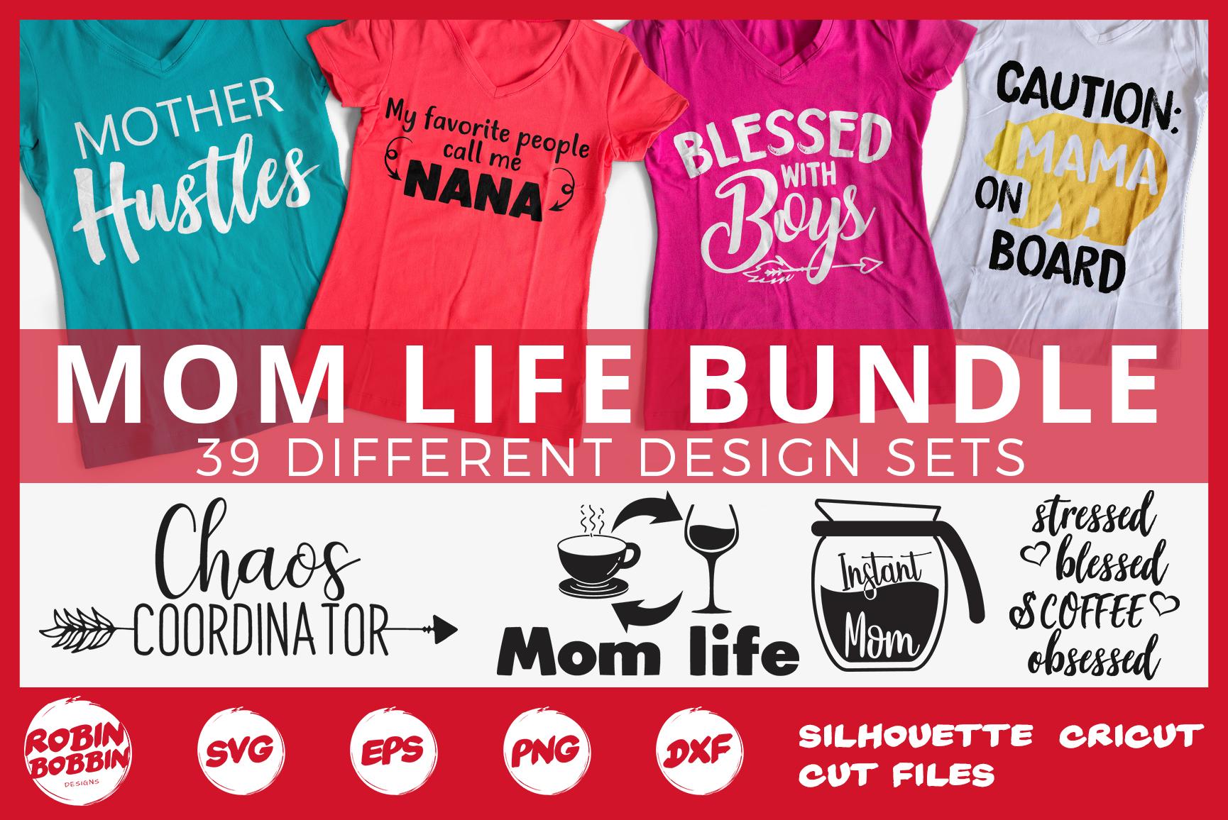 Mother's Day Bundle svg, Mom Life Bundle, Big Mother Bundle example image 1