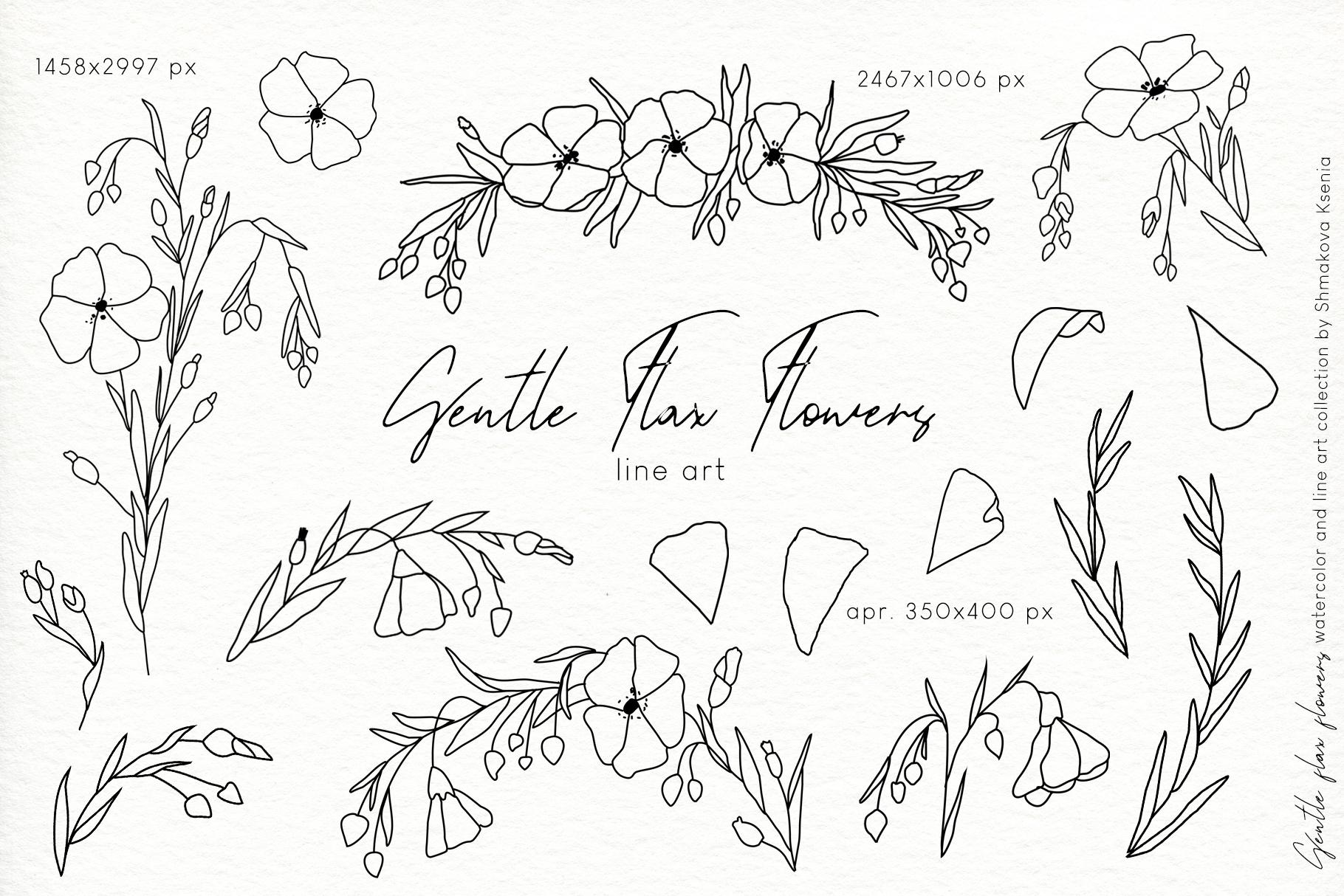Gentle Flax Flowers example image 8