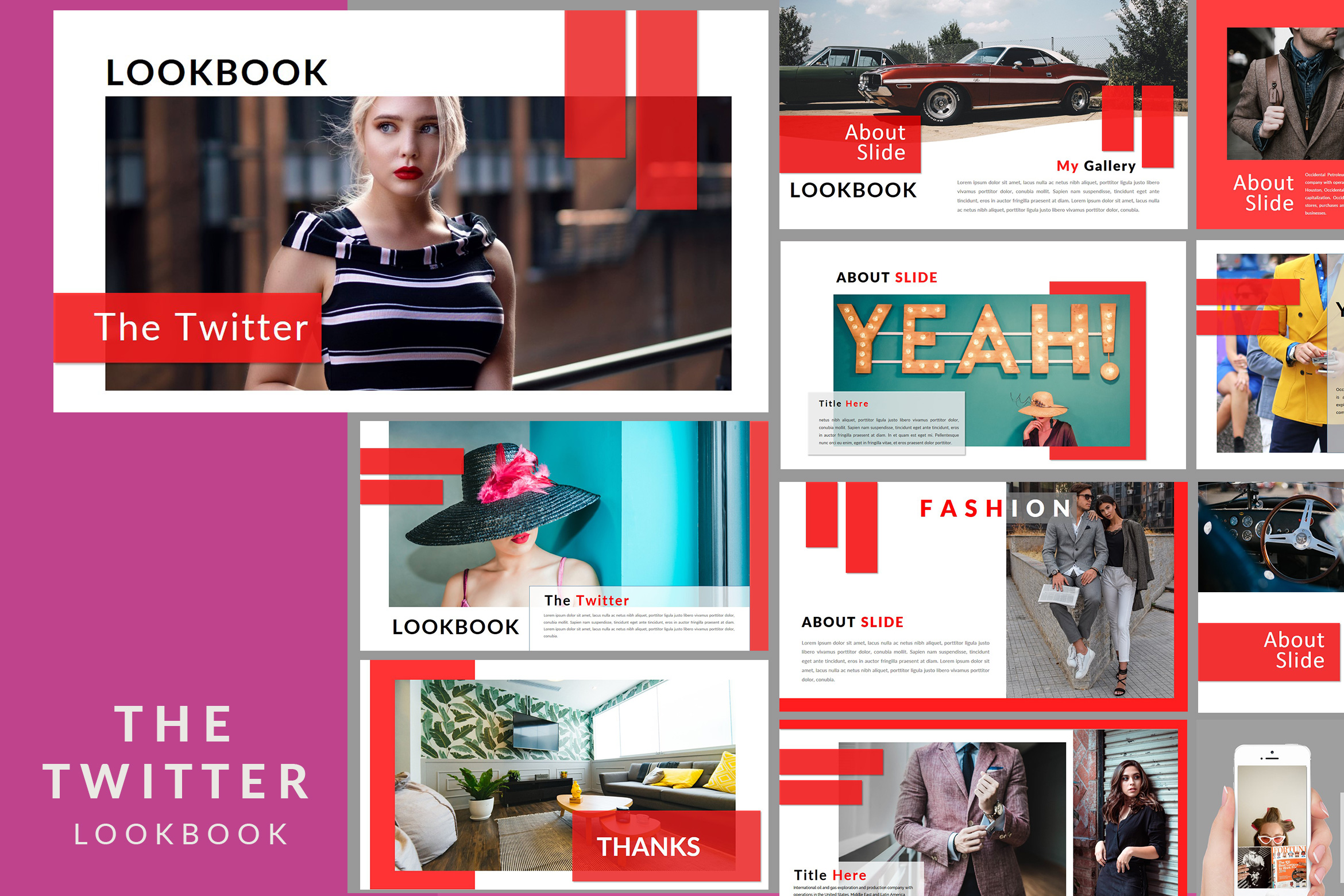 The Twitter Lookbook - Powerpoint example image 1