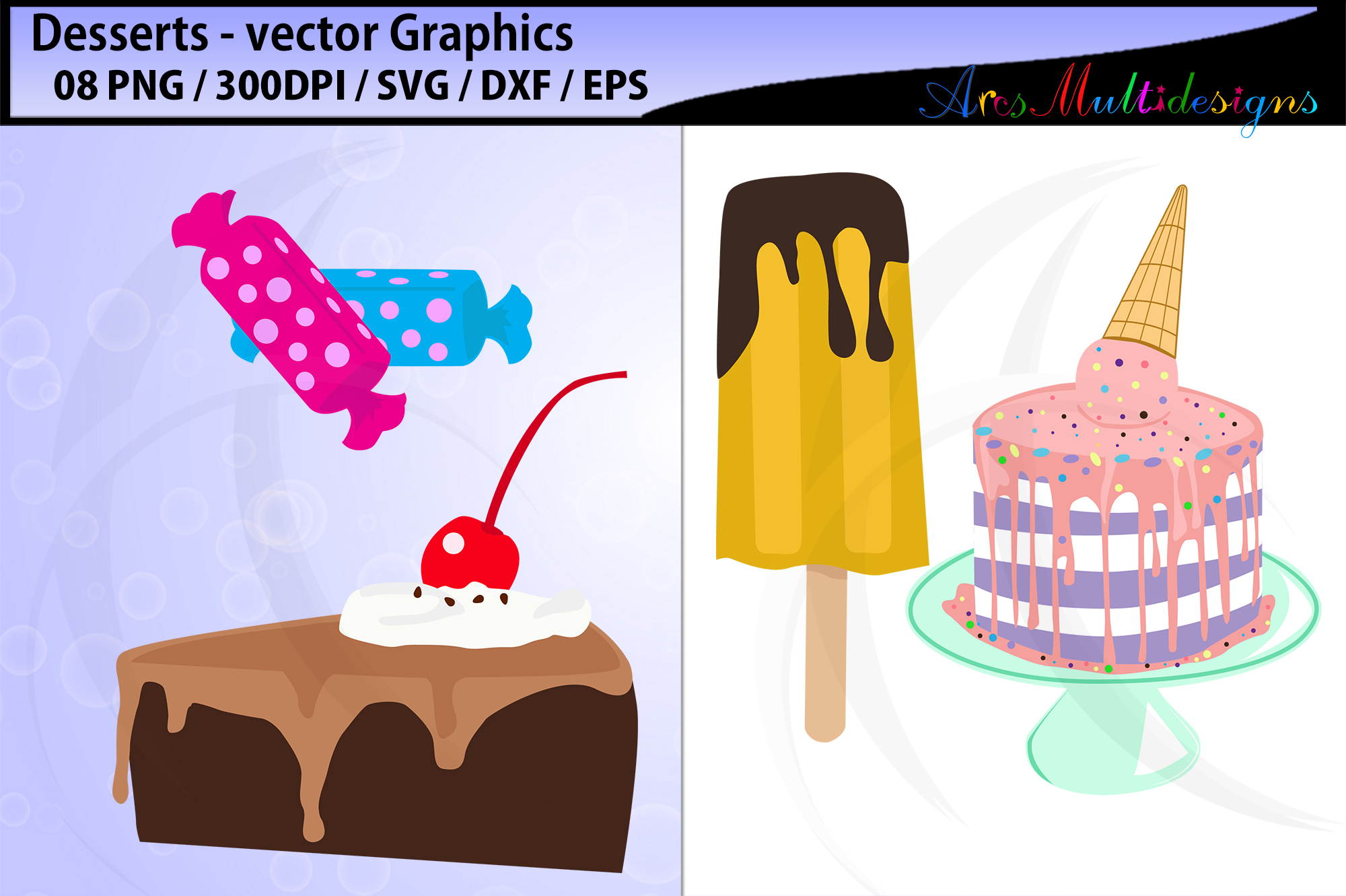 desserts vector svg graphics / desserts clipart example image 3