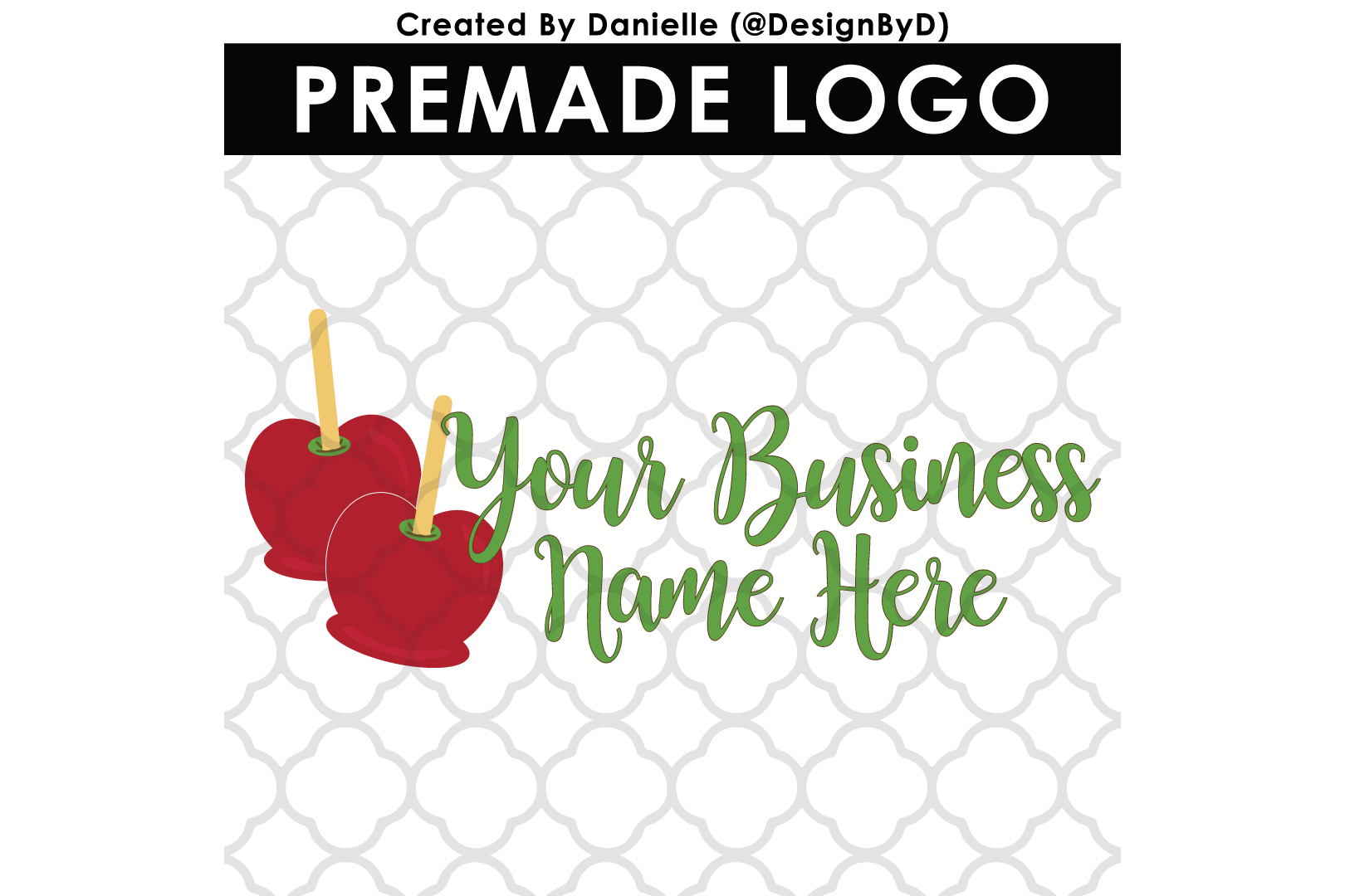 Premade Candy Apple Logo example image 1