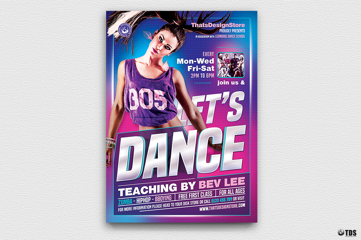 Dance Classes Flyer Template V1 example image 2