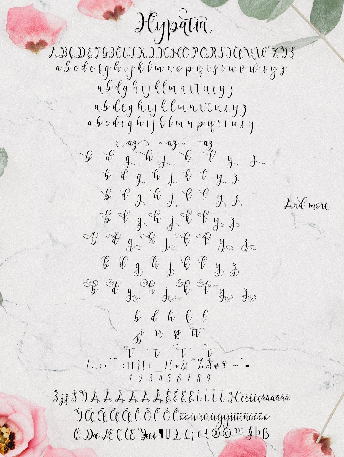 Hypatia Script example image 3