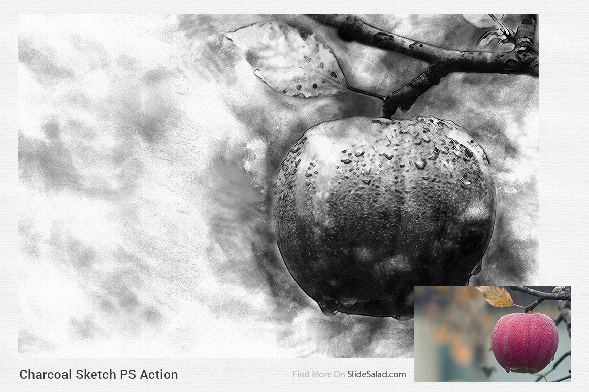 Charcoal Sketch Photoshop Action example image 9