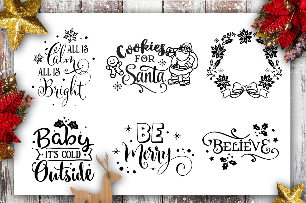 Christmas Bundle SVG bundle 40 designs Winter SVG example image 2