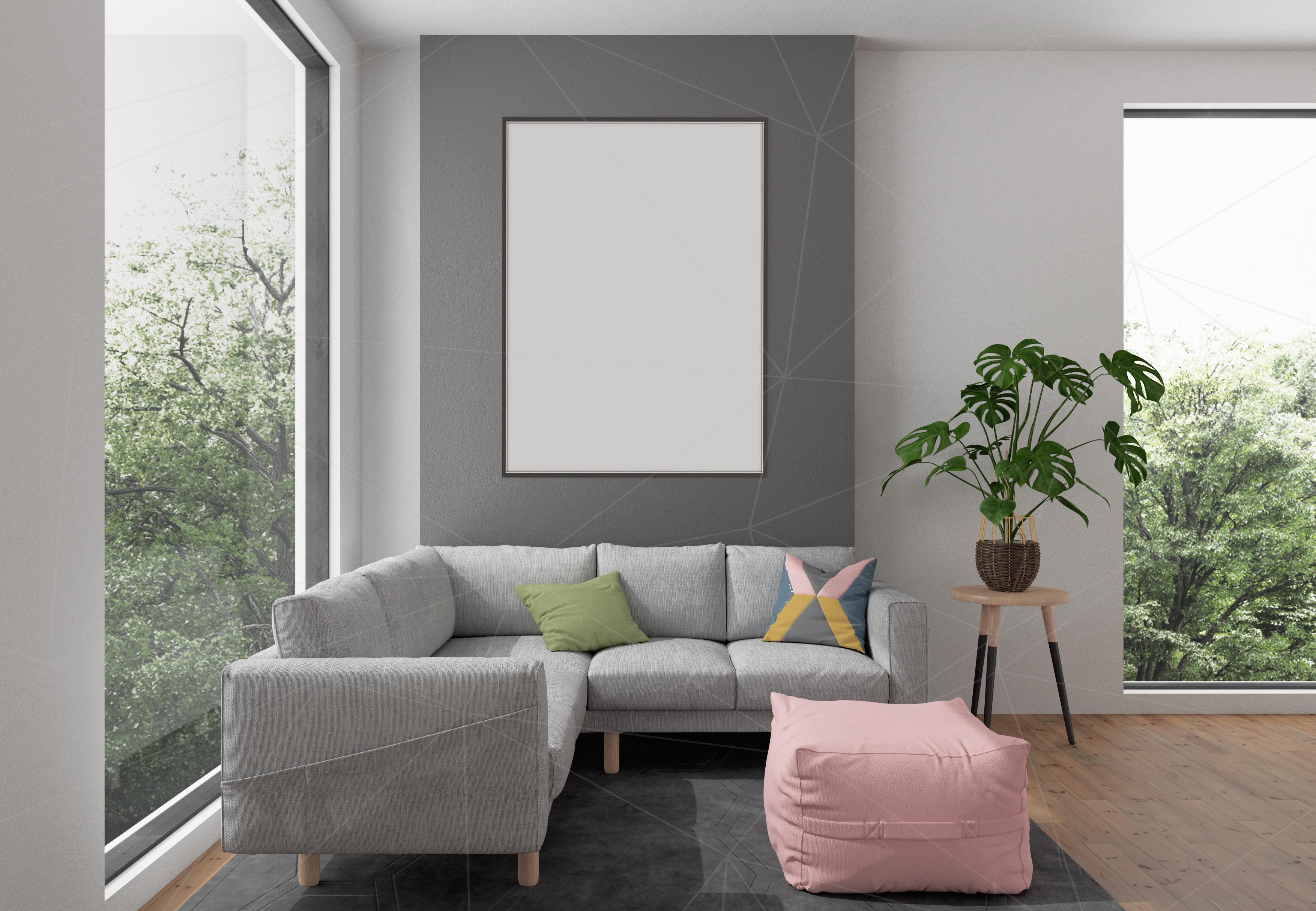 Download Interior mockup bundle - blank wall mock up (93447) | Mock ... Free Mockups