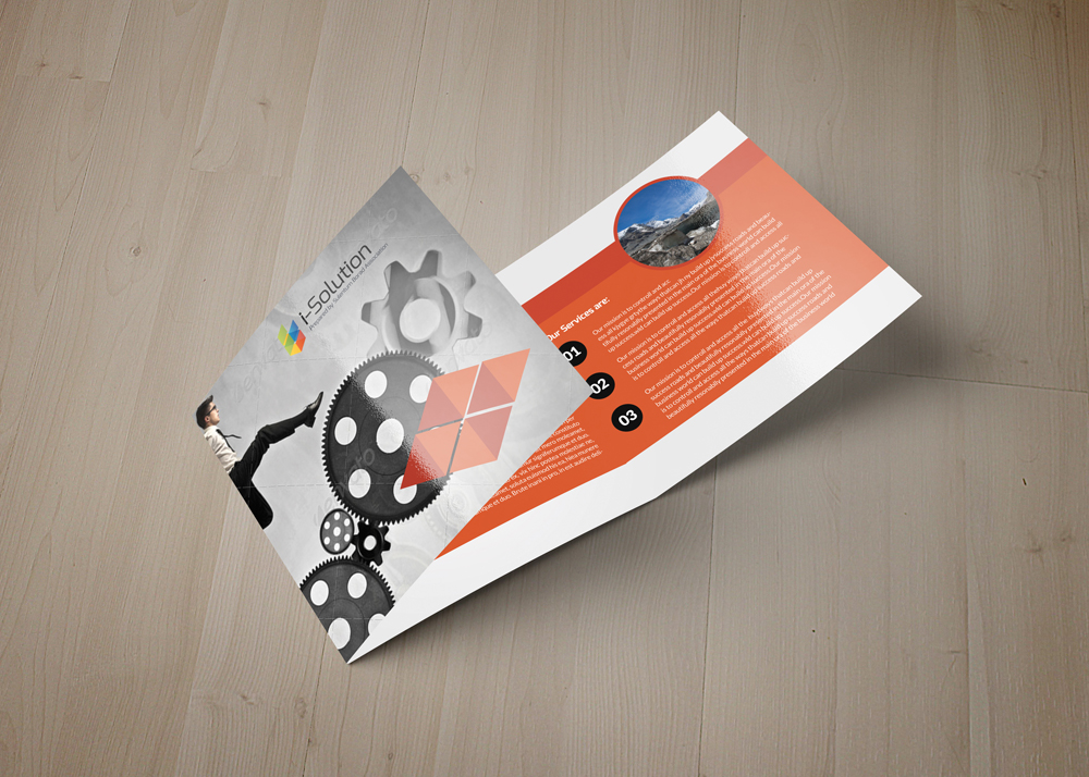 Business Strategic Square Trifold Brochure example image 4