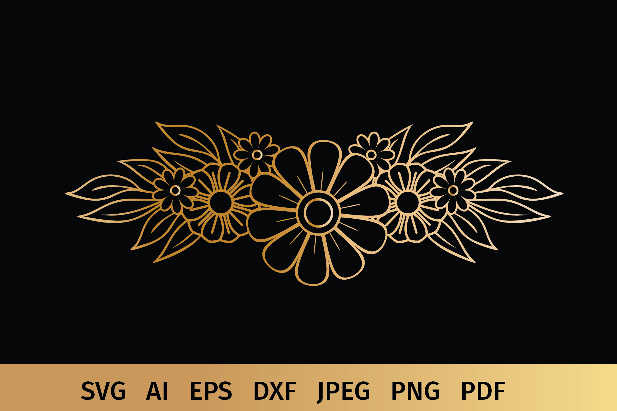 Floral Border and Corner Svg example image 7