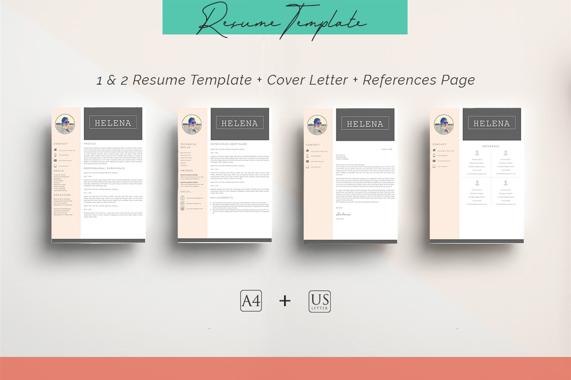 ULTIMATE BUNDLE Resume Template 10 in 1 example image 8