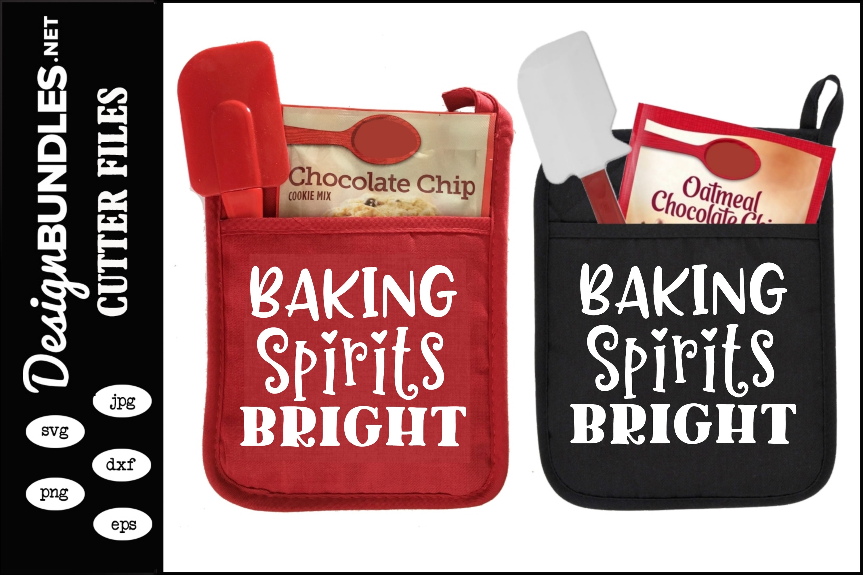 Baking Spirits Bright Christmas SVG example image 1