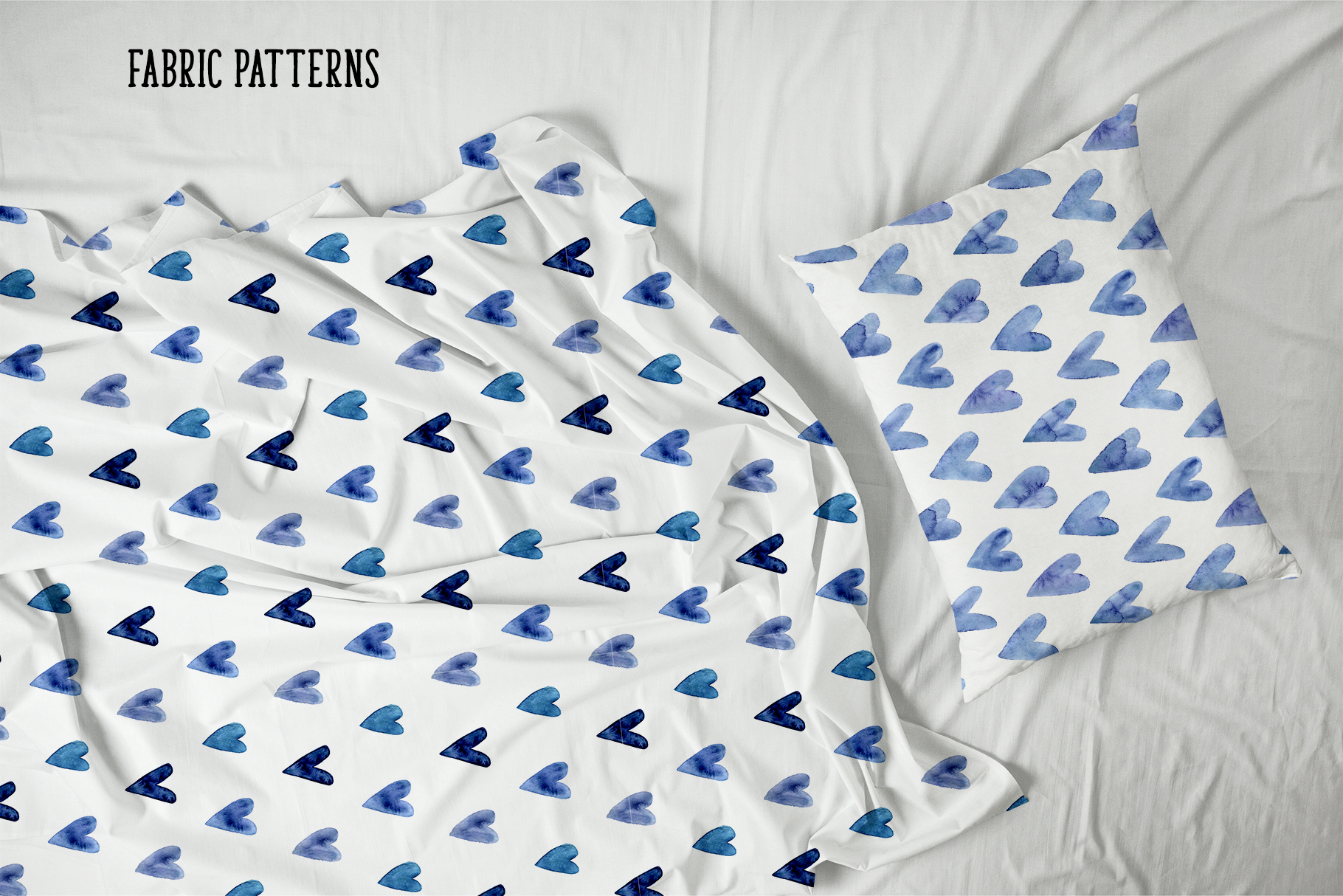 Indigo Blue Watercolor Patterns example image 3