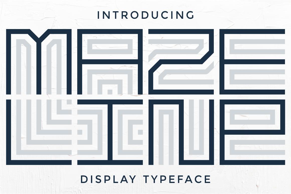 Maze Line Typeface example image 9
