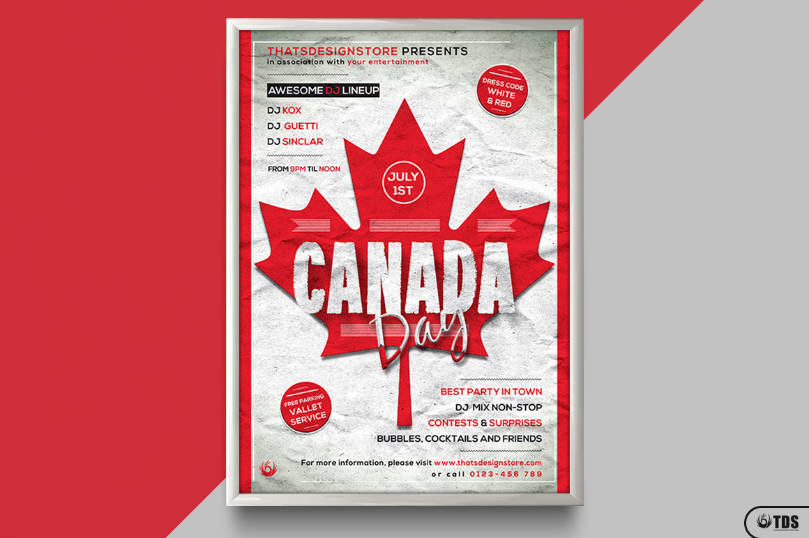 Canada Day Flyer Template example image 6