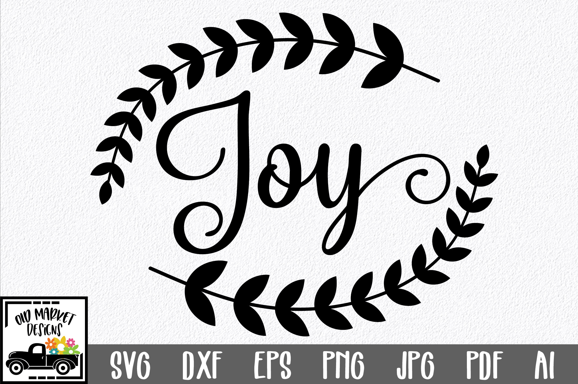 Christmas SVG Cut File - Joy SVG DXF PNG EPS JPG example image 1