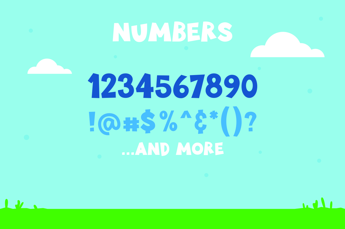 Little Munstar - A Monster Font example 4