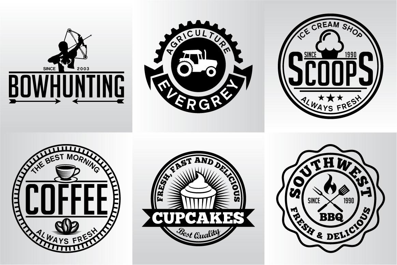 60 Vintage Bundle Logos Labels & Badges example image 20