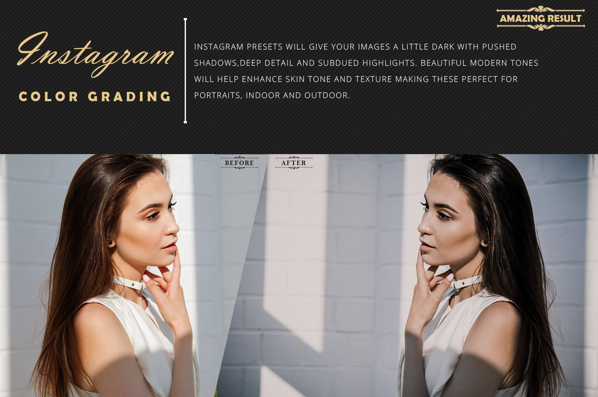Instagram color grading lightroom presets theme example image 4