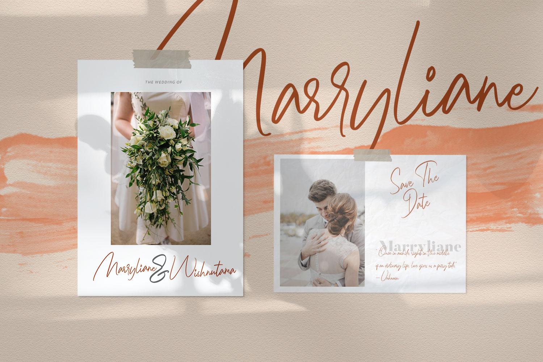Marryliane Handwriting Font example image 7
