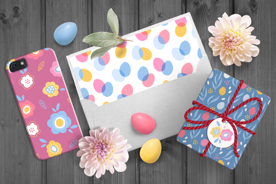 12 Easter Seamless Patterns example image 6