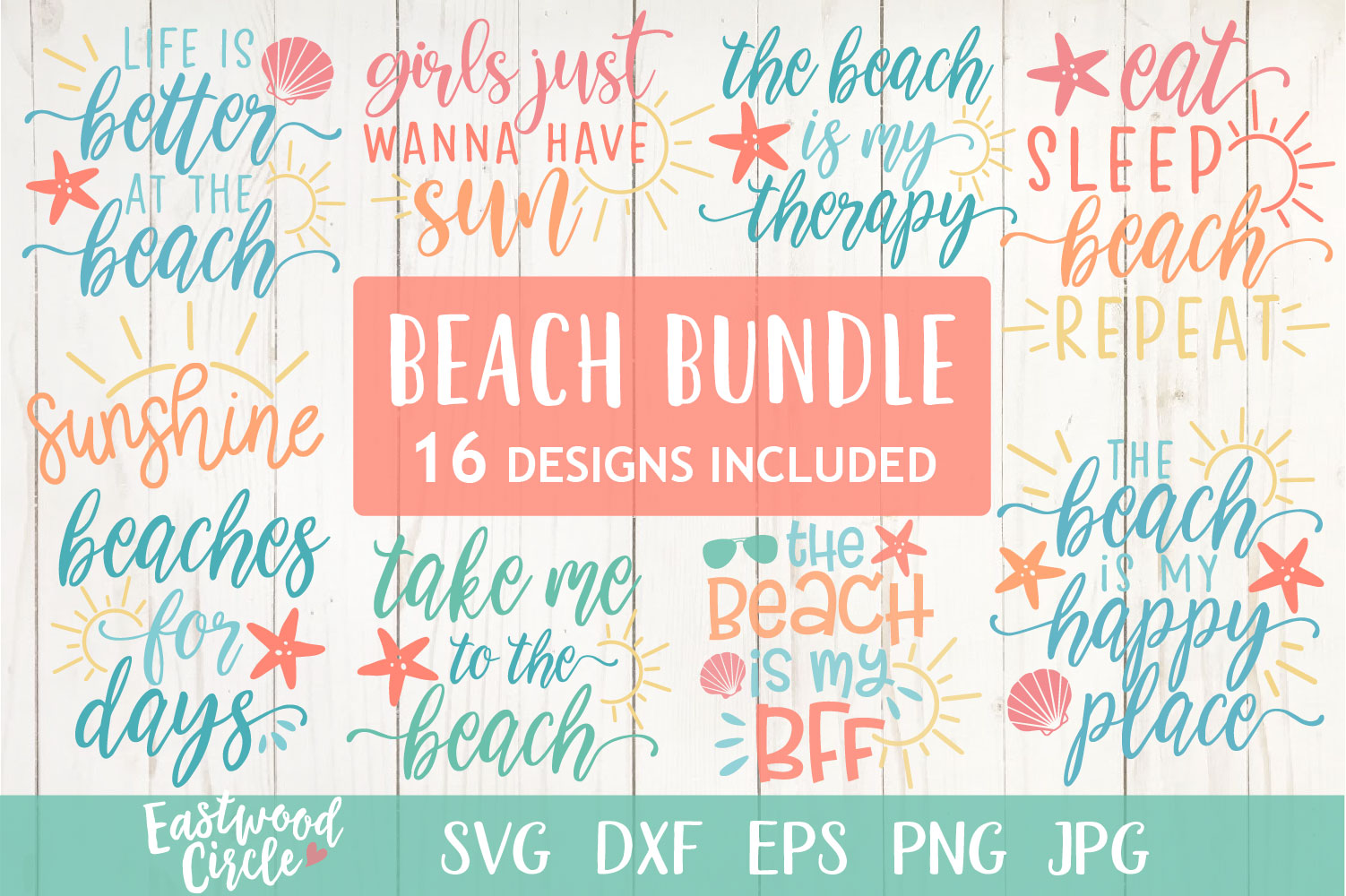 Beach SVG Bundle - Cut Files for Crafters example image 1
