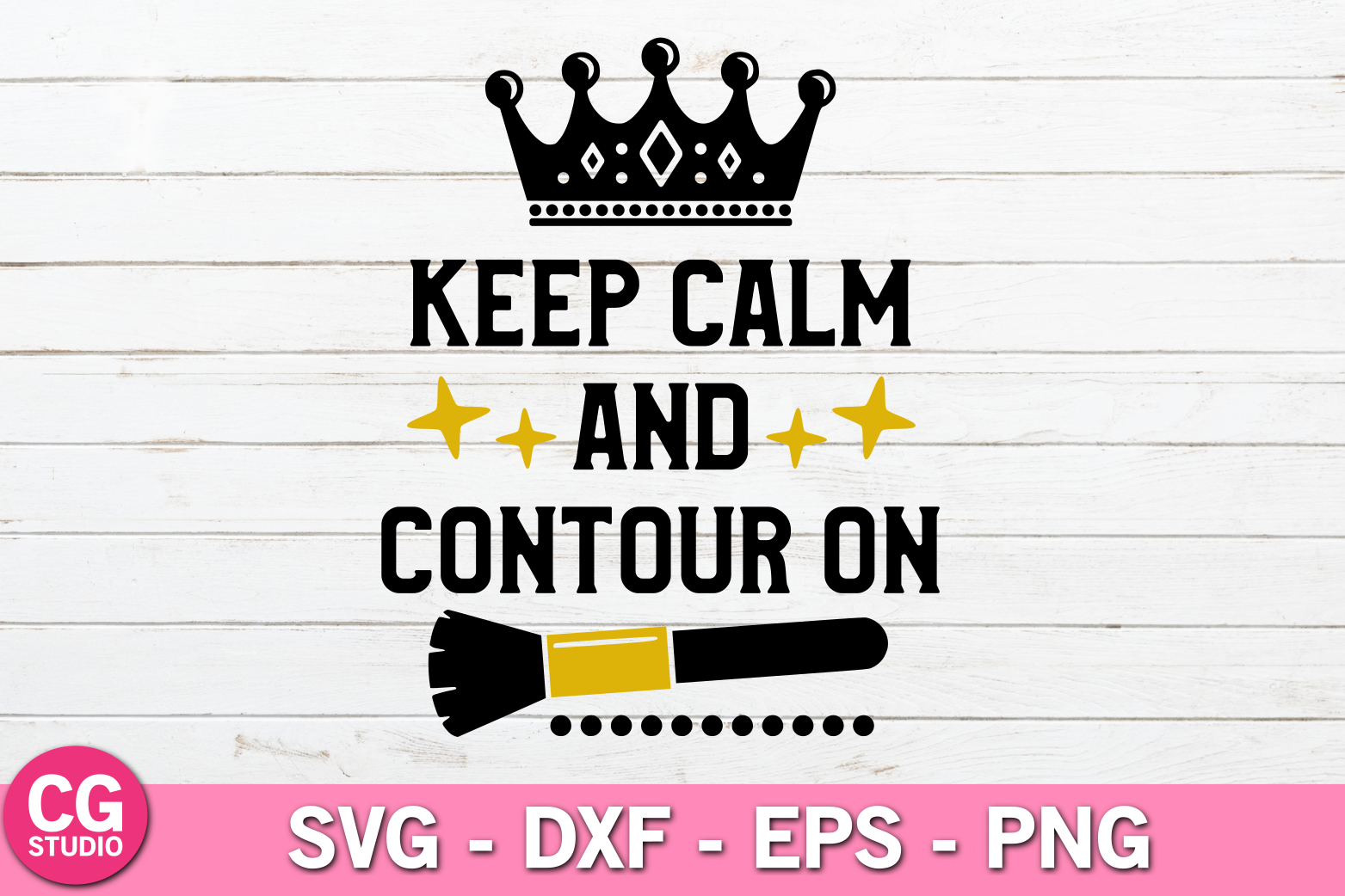 Keep calm and contour on SVG example image 1
