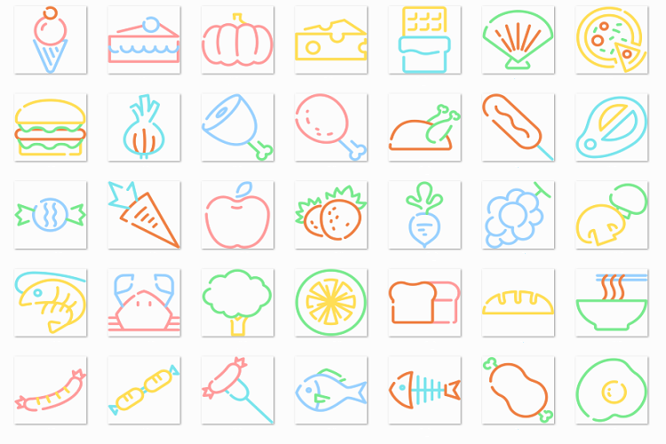 Food linear color example image 1