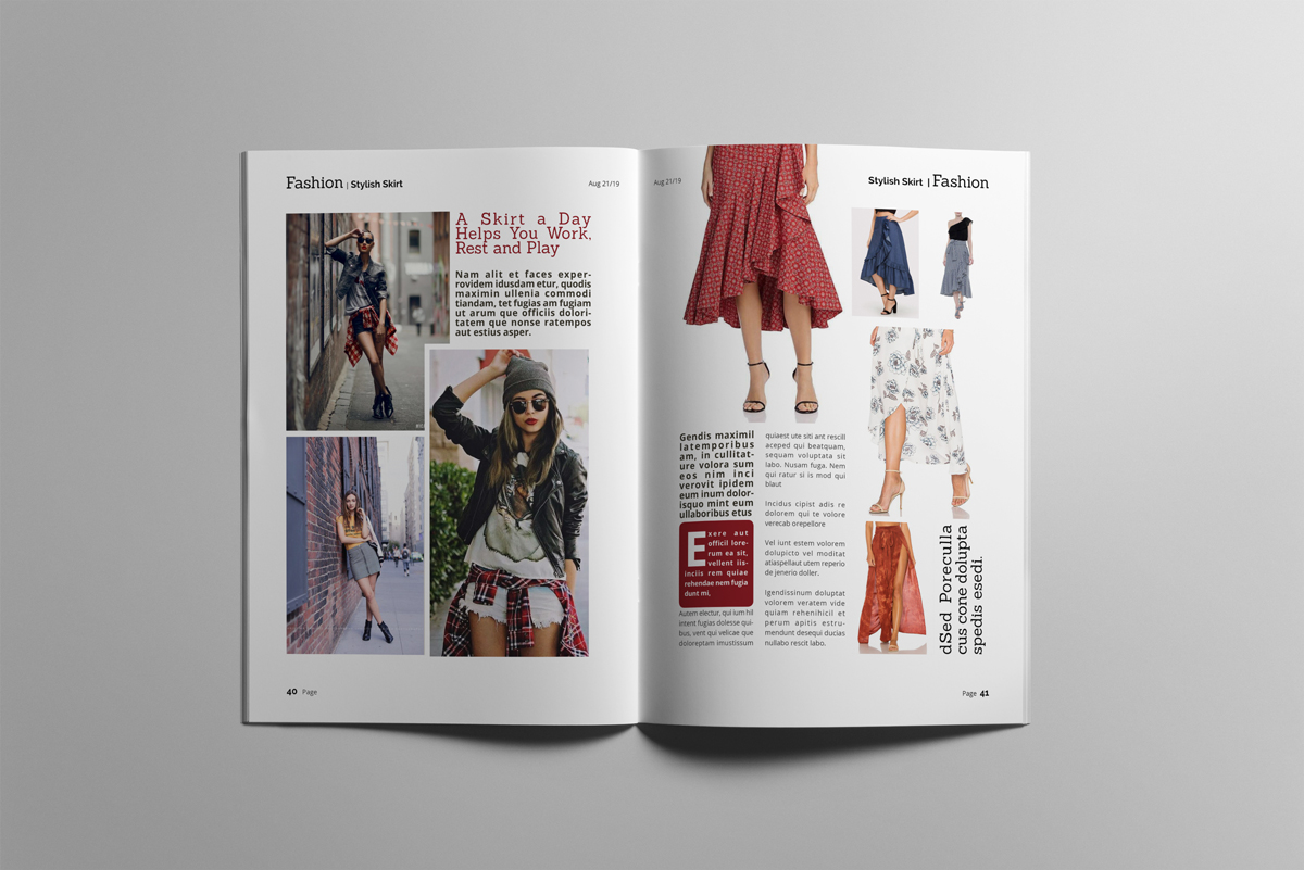 Magazine layout design example image 21