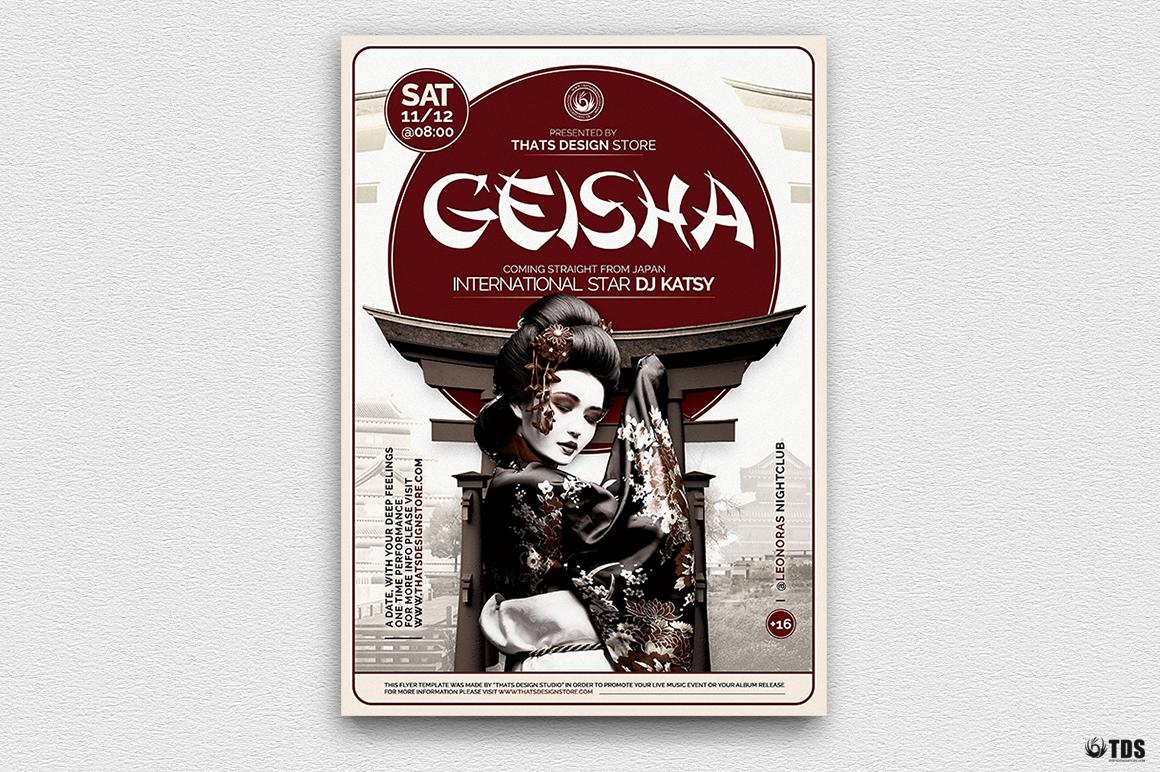 Geisha Night Flyer Template V5 example image 2