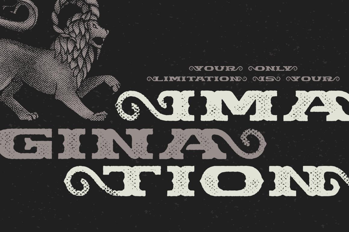 Chimera Tail, font + illustration example image 4