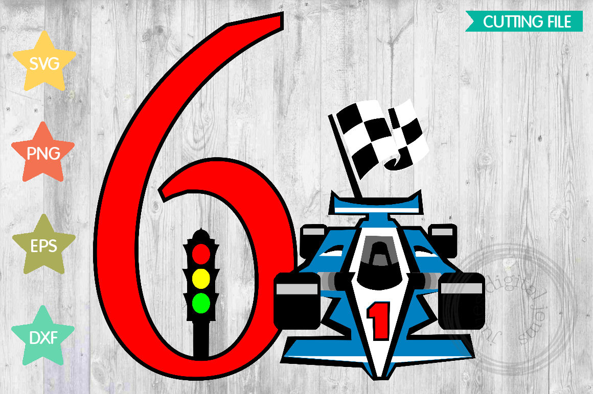 Racing Birthday 6th, by Julies Homemade Jems example image 1