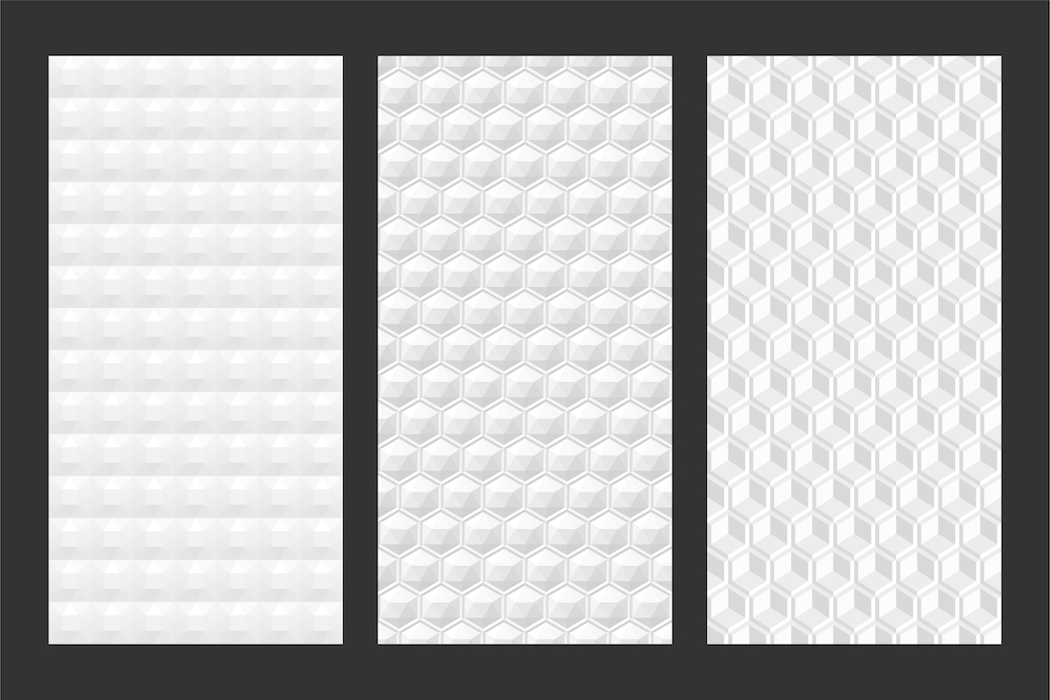 White and grey seamless 3d textures example image 5
