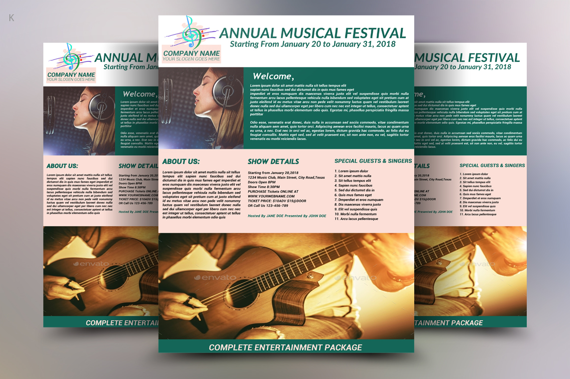 Music Festival Flyer example image 2