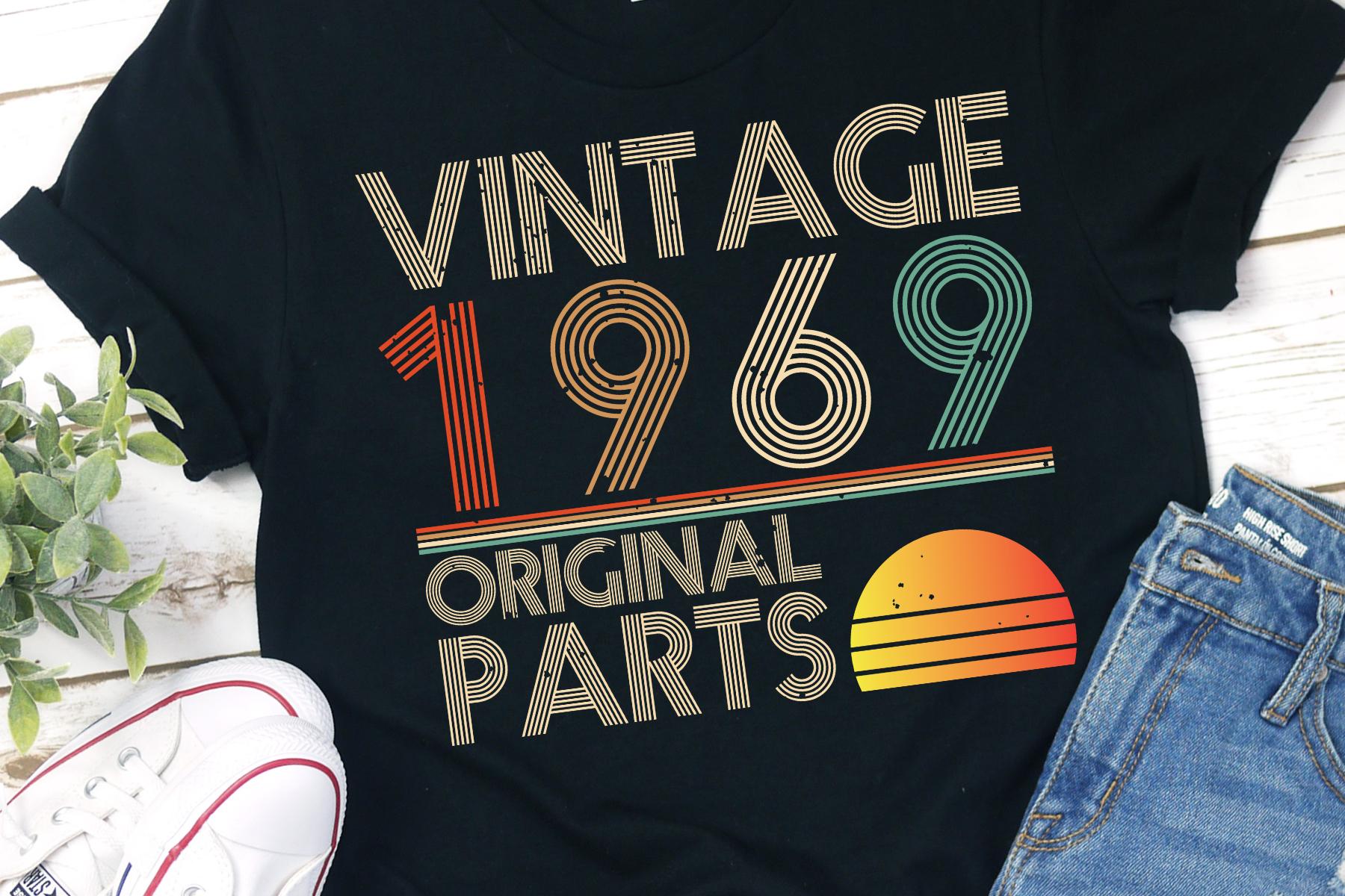 1969 50th Birthday Grunge Distressed Vintage Original SVG example image 1